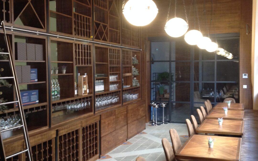 """Realizzazione di struttura ristorante/ cantina """" la terrasse du marché"""" completata a fine 2019 a Montecarlo."""